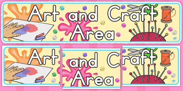 Art and Craft Area Banner (Australia) - banners, visual, displays