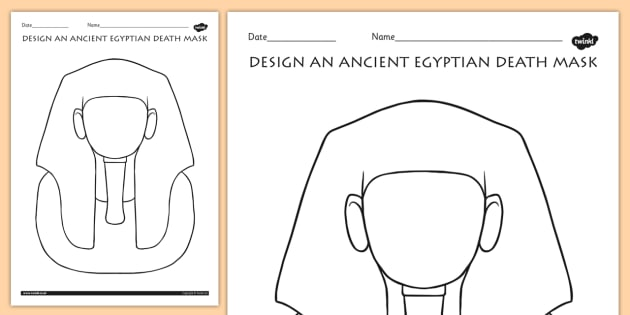 Design An Ancient Egyptian Death Mask Activity Egypt Dt