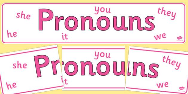 Pronouns Display Banner - pronouns, display banner, banner, display