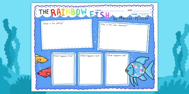Book Review Writing Frames to Support Teaching on The Rainbow Fish - book review, story