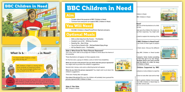 KS2 BBC Children in Need Assembly Pack
