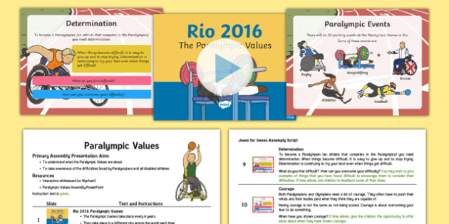 Paralympic Values Assembly Pack