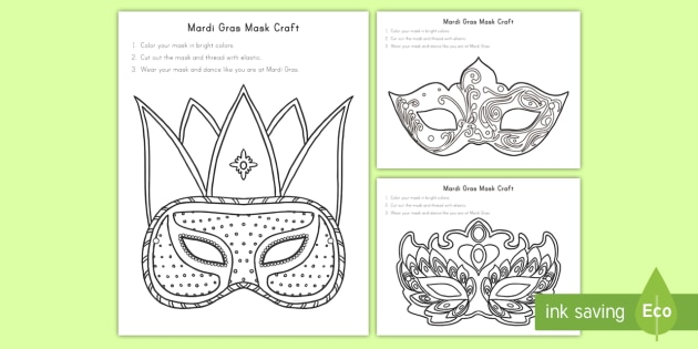 Printable Mardi Gras Coloring Pages | ColoringMe.com | 315x630