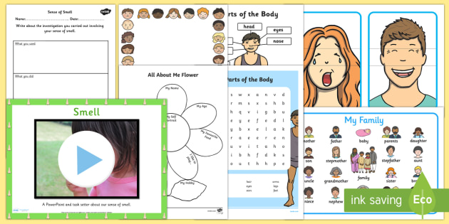 Top 10 Ourselves Resource Pack - Ourselves, emotions, feelings, facial expressions, parts of the body, family