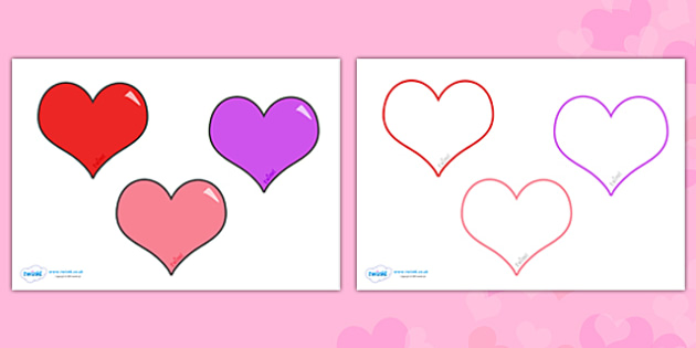 ValentineS Day Editable Heart Template  ValentineS Day