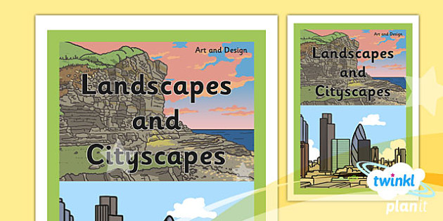 Art and design landscapes and cityscapes ks1 unit book cover