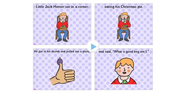 Little Jack Horner PowerPoint - little jack horner, little jack horner nursery rhyme, nursery rhyme powerpoint, nursery rhymes, jack horner powerpoint