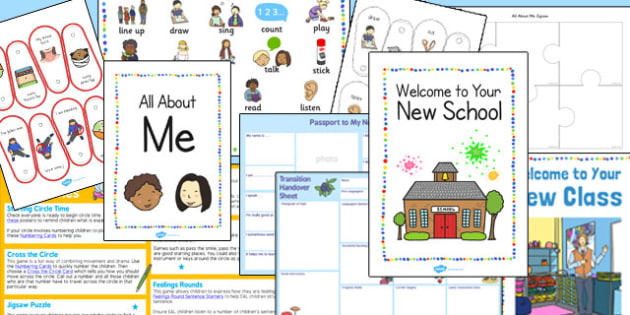 EAL Transition Pack to a New School - transition, pack, new school