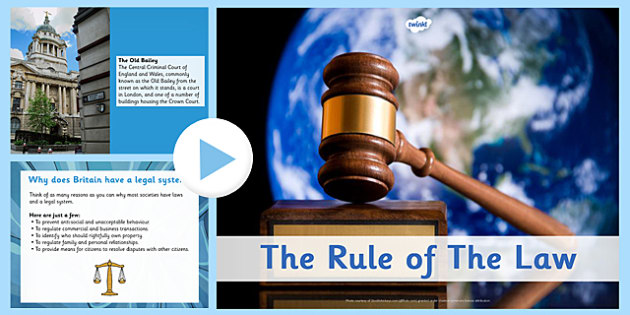 The Rule of the Law PowerPoint - rule, law, powerpoint, rules, fairness, fair