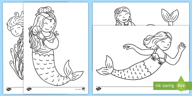 New Meerjungfrauen Ausmalbilder Ausmalen Ausmalbild