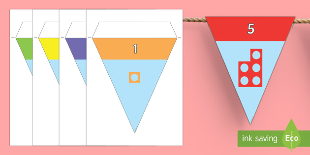 Number Shapes Display Bunting