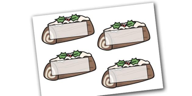 Christmas Self Registration Yule Logs Editable  - christmas, xmas