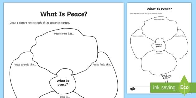 First World War Centenary What Is Peace? Worksheet ...