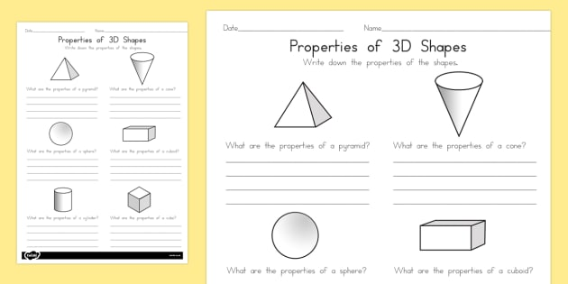 year 1 properties of shapes worksheet activity sheets. Black Bedroom Furniture Sets. Home Design Ideas