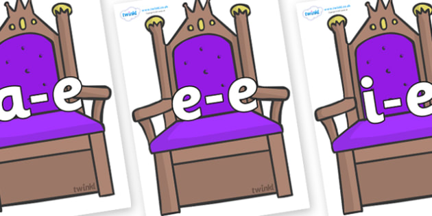 Modifying E Letters on Thrones - Modifying E, letters, modify, Phase 5, Phase five, alternative spellings for phonemes, DfES letters and Sounds
