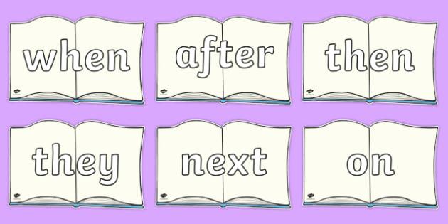 Sentence Starters On Books - Sentence starter, writing sentences, vocabulary, writing aid, how to start a sentence, the, next, there, sentance, setence, sentnces
