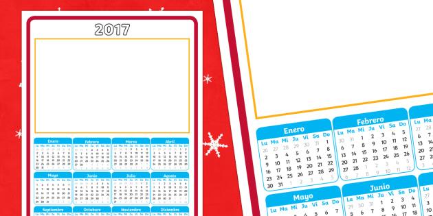 2017 Calendario - Español, calendar, time, hora, calendario, months, meses, days, días, dates, fechas