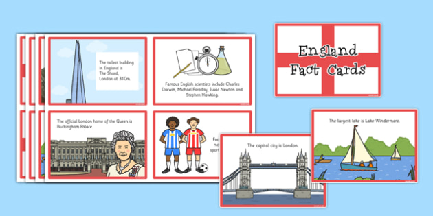 Our Country England Fact Cards - our country, england, fact, card