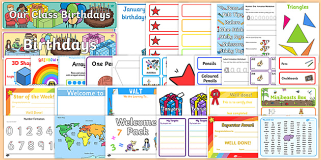 Classroom Ideas For Nqt ~ New classroom set up resource pack for ks september