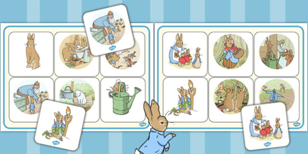 The Tale of Peter Rabbit Matching Mat - peter rabbit, matching