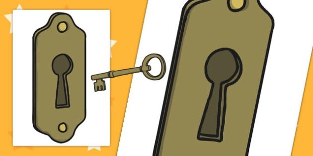 Large A3 Lock Cut Out - cutting, locks, keys, key, locked, big