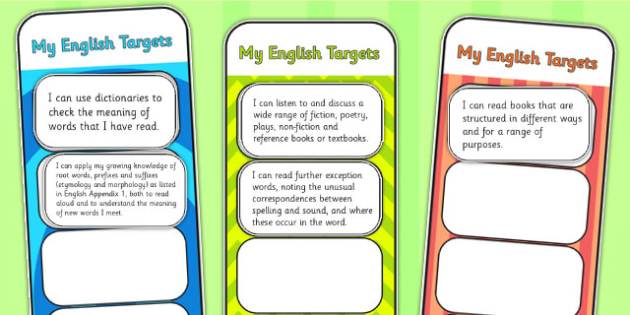 2014 National Curriculum LKS2 Years 3 and 4 English Assessment Bookmarks