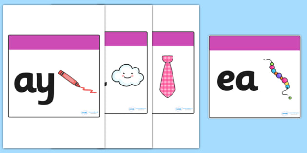 Phase 5 Square Large Display Cards (Pictures) - Phonemes, Phase 5, Phase five, Mnemonic cards, DfES Letters and Sounds, Letters and sounds, Letter flashcards, Image and Word Cards