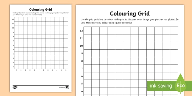 blank colouring grid worksheet activity sheet colouring grid references worksheet coordinates coordinates