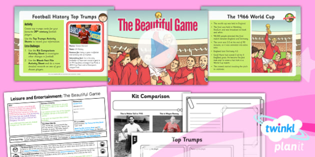 History: Leisure and Entertainment: The Beautiful Game UKS2 Lesson Pack 2