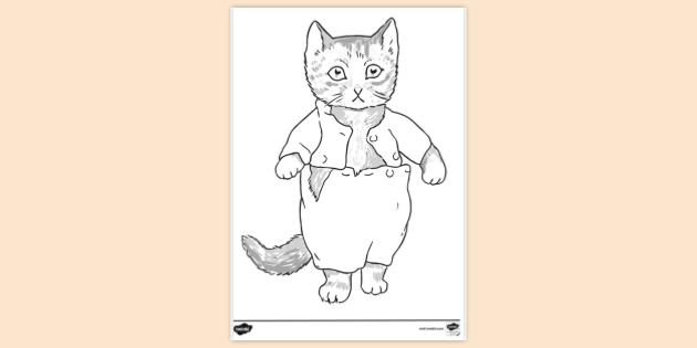 Free Kitten Colouring Colouring Sheets Teacher Made