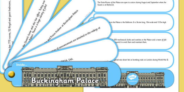 Buckingham Palace Facts Fan Book - buckingham, palace, facts, fan book