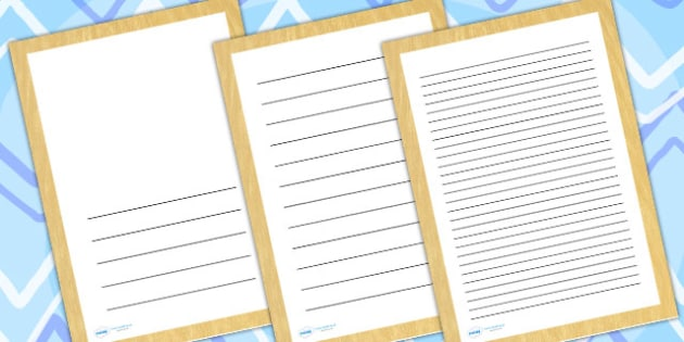 Lion Skin Page Borders - writing templates, writing frames
