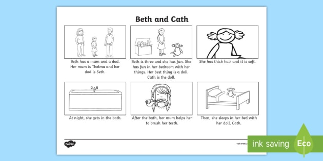 Phase 3 'th' Phoneme Spotter Story - English, Reading
