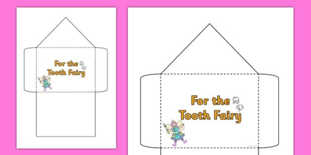 Tooth Fairy Envelope - tooth fairy, envelope, teeth, money, fairy