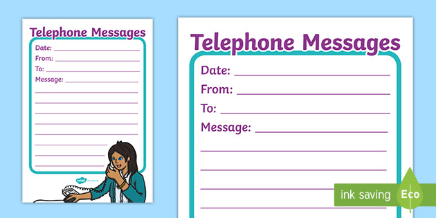 It's just a graphic of Adaptable Free Printable Phone Message Template