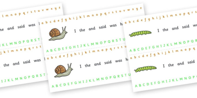 Alphabet Strips (Minibeasts) - education, home school, child development, kids, free