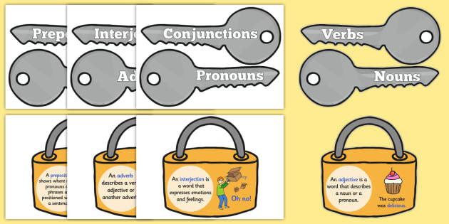 Grammar Word Types on Keys and Locks - grammar, keys, locks