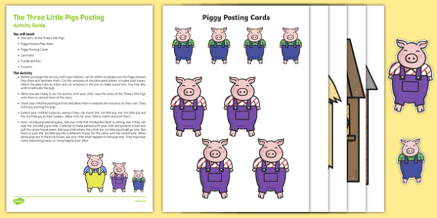 The Three Little Pigs Posting Busy Bag Resource Pack for Parents