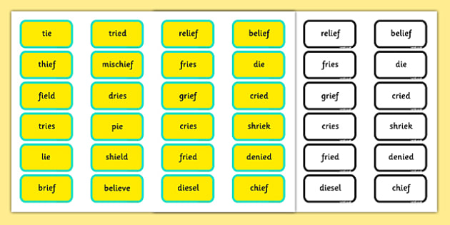 Alternative Pronunciation of IE Sorting Game - phonics, phase 5, phase 5 DfE, letters and sounds