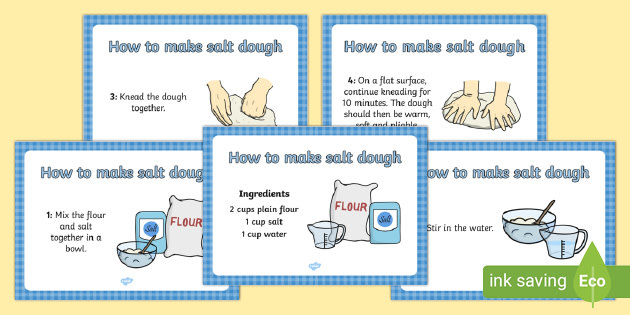 Free Easy Salt Dough Recipe A4 Display Posters