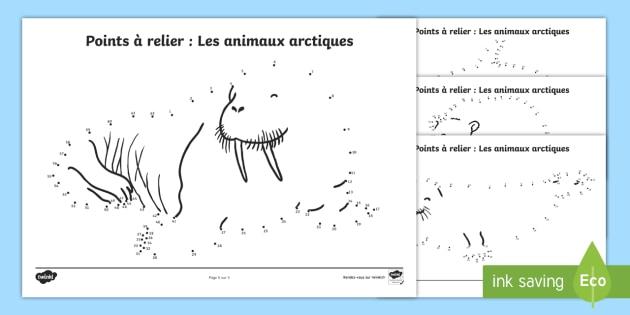 * NEW * Points à Relier : Les Animaux De L'Arctique