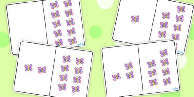 Butterfly Counting Number Bonds to 10 - counting, number, bonds