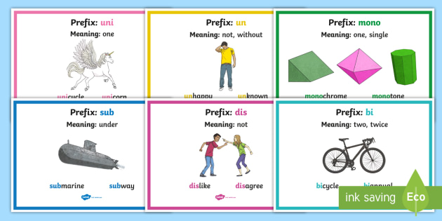 Prefix Posters With Definitions - prefix, posters, display, definitions, english, literacy, ks2