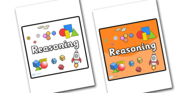 Reasoning Area Sign - sign, display sign, area display sign, area sign, area, classroom areas, school areas, classroom area signs, topic signs, topic area signs