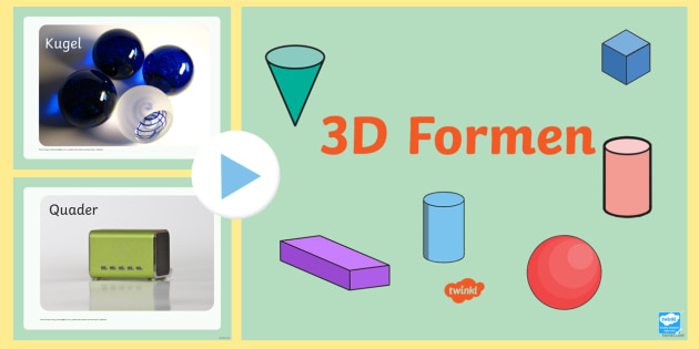3D Formen PowerPoint Präsentation - Geometrie, Mathe, Figuren
