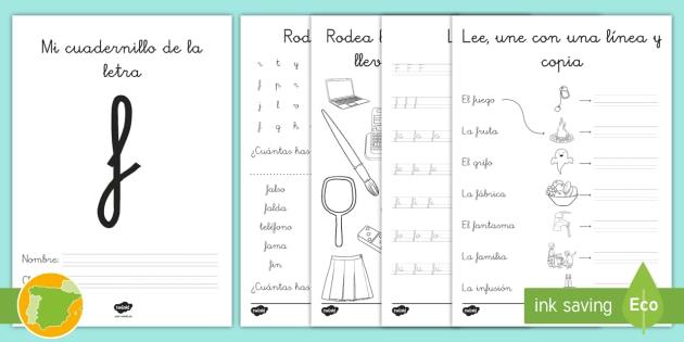 Cuadernillo de lecto: La letra F - lecto, leer, lectura, sonidos, letra , lecto-escritura, letra f, la f, f,Spanish