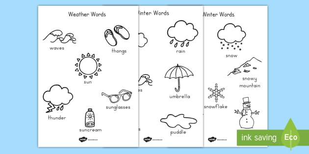 Winter Coloring Pages Temperate - color, motor skills, seasons