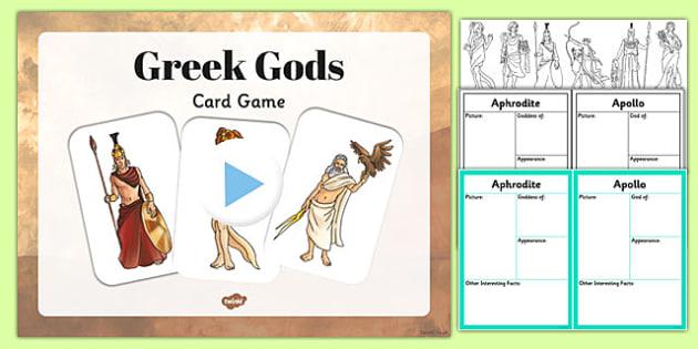 Ancient Greek Gods Information Cards Teaching Pack Teaching