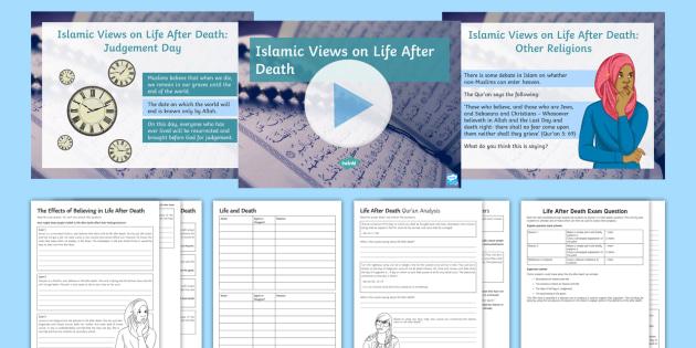 Islamic Beliefs About Life After Death Lesson Pack - Islamic Beliefs; Akhirah; Resurrection; Judgement Day; Day of Judgement; Heaven; Hell; Jahannam; Jan