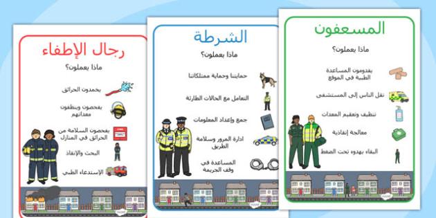 ملصقات معلومات الطوارئ - الطوارئ، الشرطة، الإسعاف، الإطفاء